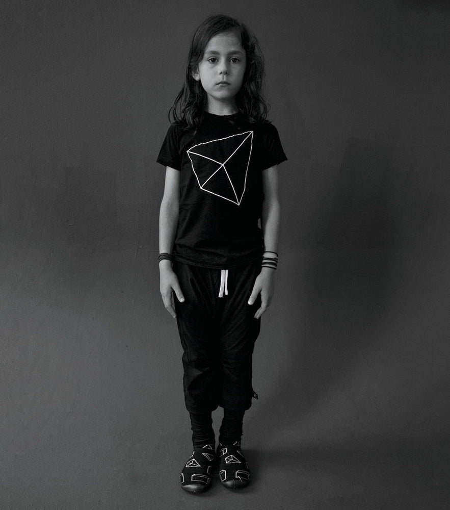 NUNUNU Black Geometric Patch T-shirt - TAYLOR + MAX