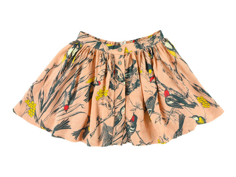 Morley Aria Birds Flora Rose Skirt