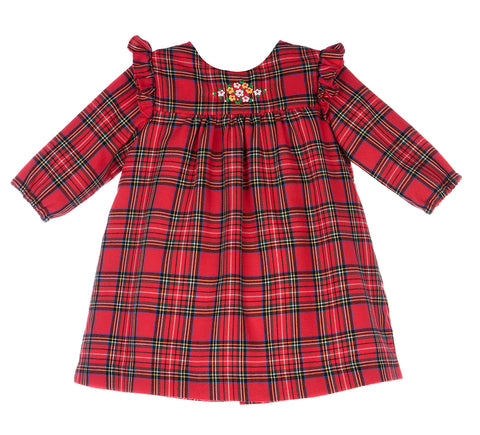 Luli and Me Holiday Tartan Plaid Dress