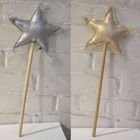OH Baby! Metallic Linen Star Wand