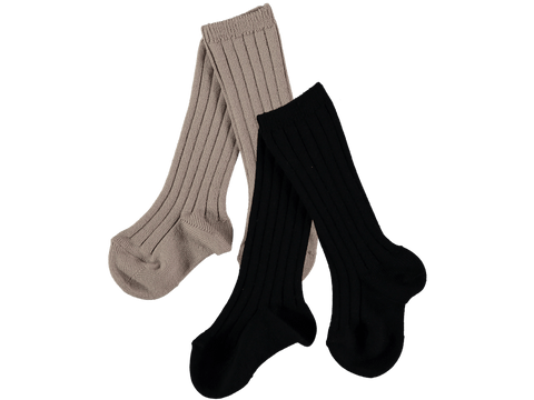Mini Sibling Ribbed Long Sock Set