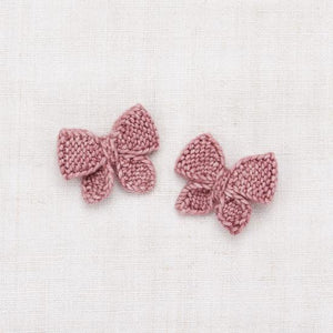 Baby Puff Bow Set | Antique Rose
