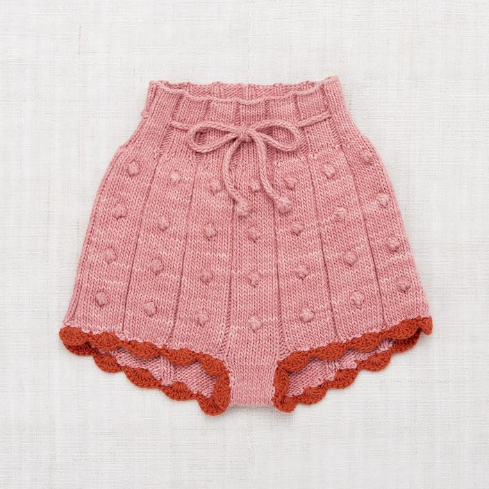 Popcorn Rib Shorts | Rose Blush