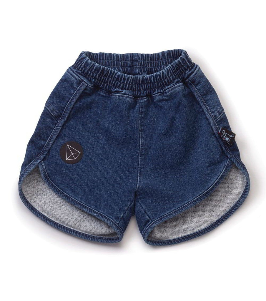 NUNUNU Denim Gym Shorts - TAYLOR + MAX