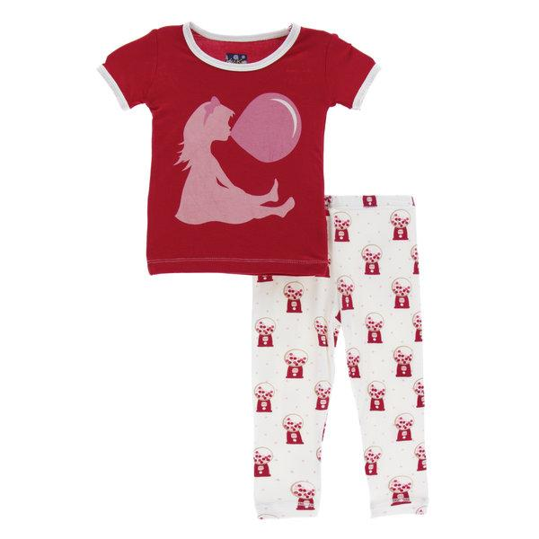 Kickee Pants Short Sleeve Pajama Set- Gumball Machine