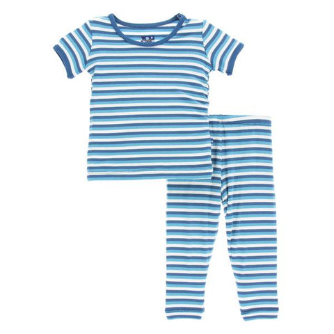 Kickee Pants Short Sleeve Pajama Set Confetti Stripe