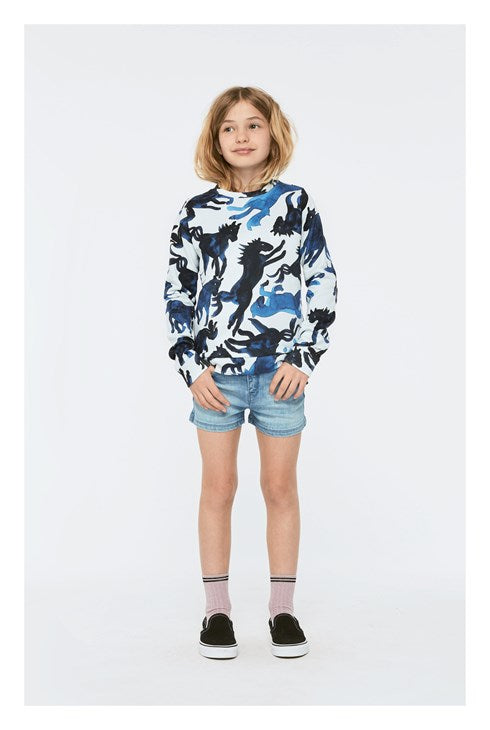 Molo Marlee Blau Horses Sweat Shirt