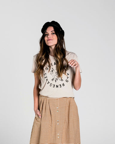 Rylee + Cru Rose & Arrows Basic Tee- WOMEN