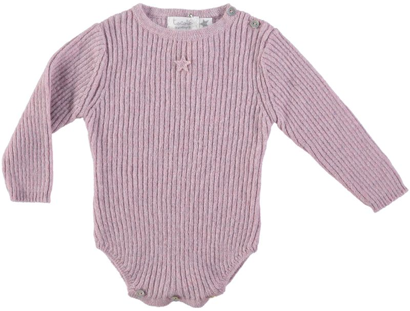 Tocoto Vintage Knitted Bodysuit | Pink