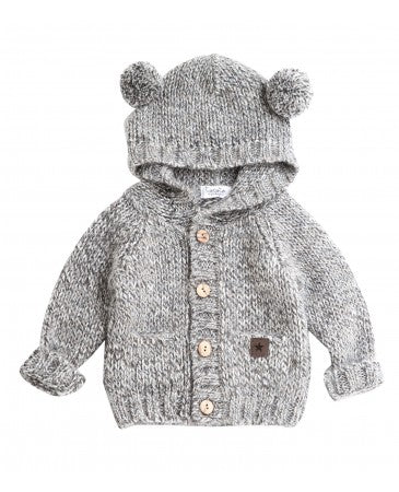 Tocoto Vintage Knitted Bear Jacket