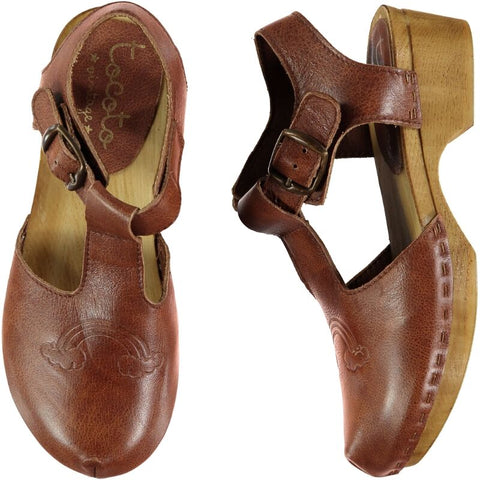 Tocoto Vintage Rainbow Leather Clogs
