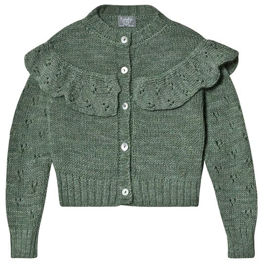 Tocoto Vintage Dark Green Knitted Cardigan