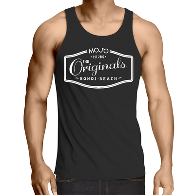 Mojo Originals Lowdown - Mens Singlet Top - Mojo Downunder