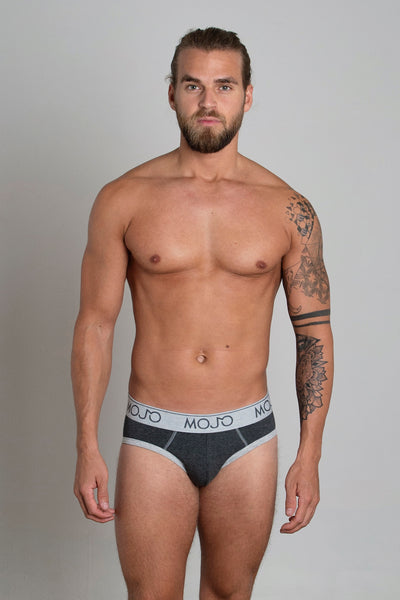 VARSITY BRIEF - DARK GREY - Mojo Downunder