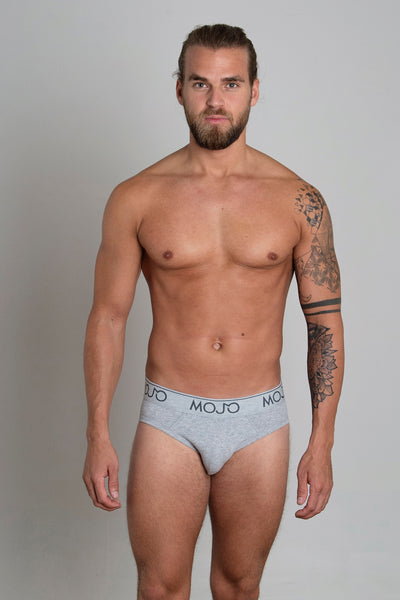 VARSITY BRIEF - LIGHT GREY - Mojo Downunder