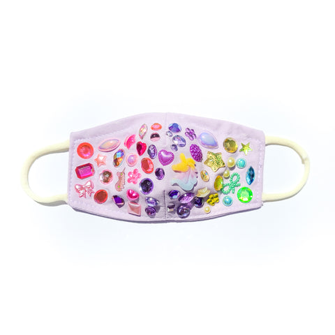Toddler Purple Unicorn Twinkle Mask