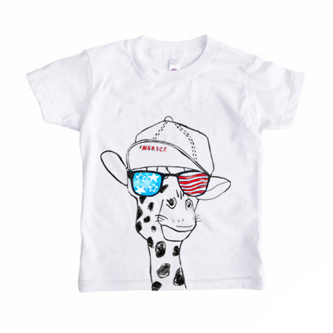 Freedom Giraffe Party Animal Tee