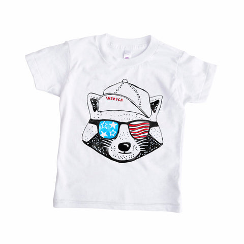 Freedom Raccoon Party Animal Tee
