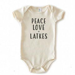 Peace, Love, and Latkes onesie