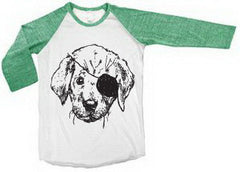 Pax The Pirate Puppy RAGLAN