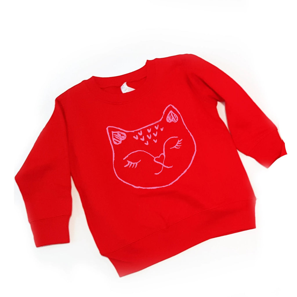 Red Heart Kitty pullover