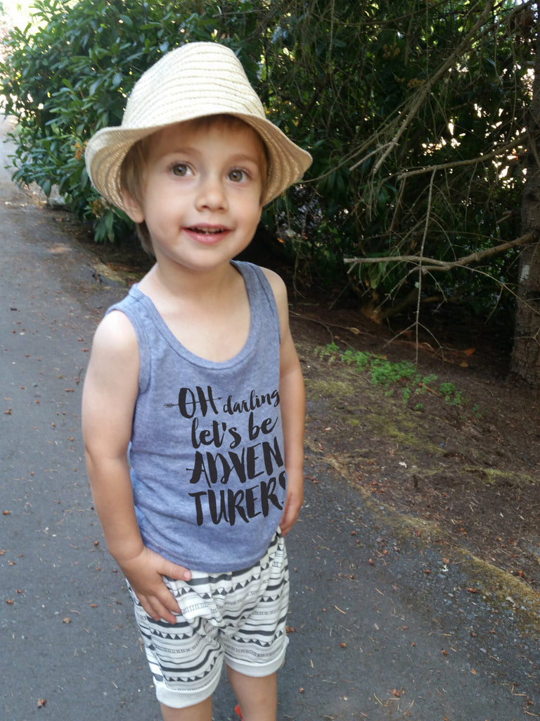 Oh darling lets be adventurers Youth tank top