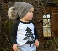 Adventure Is My Middle Name kid's baseball raglan