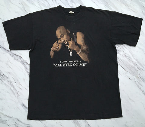 2Pac '96 'All Eyez On Me Promo' XL *Rare / Heavy Fade*