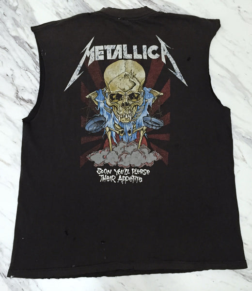 Metallica '94 'Doris / Their Money Tips Her Scales' XL *Shredded & Sleeveless*