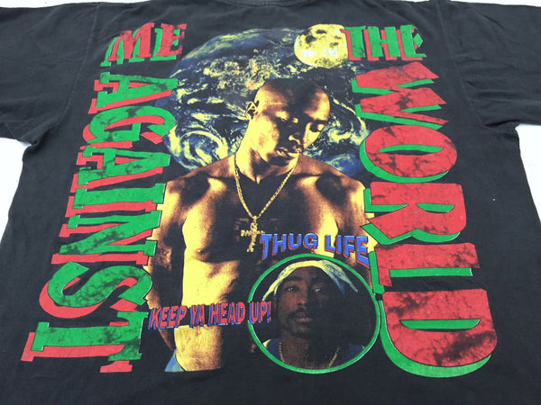 2Pac 90s 'Stop The Violence/ Me Against The World' Bootleg Tribute XL