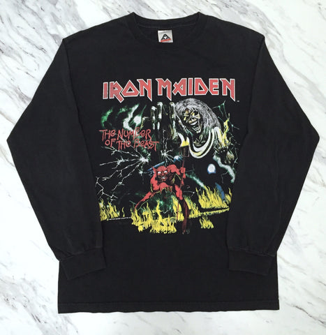 Iron Maiden 90s 'The Number Of The Beast' Medium L/S