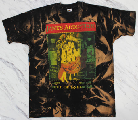 Janes Addiction '90 'Ritual De Lo Habitual Tour Bleach Dye' XL  *Rare*