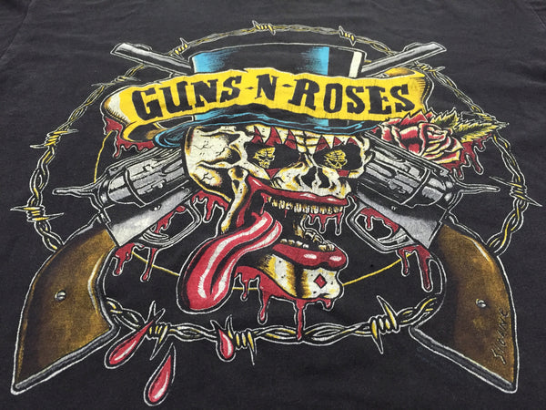 Guns N Roses '90 'Skull' Large *Heavy Fade*