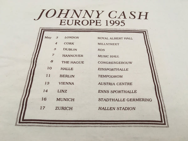 Johnny Cash 1995 'American Recordings European Tour' XL/XXL