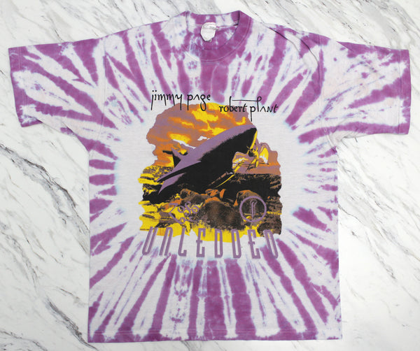 Jimmy Page & Robert Plant 'Unledded / No Quarter Tie Dye' Large *1 of 1*