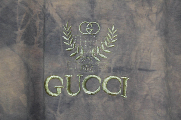 Gucci 90's Embroidered Bootleg Tee Boxy Medium