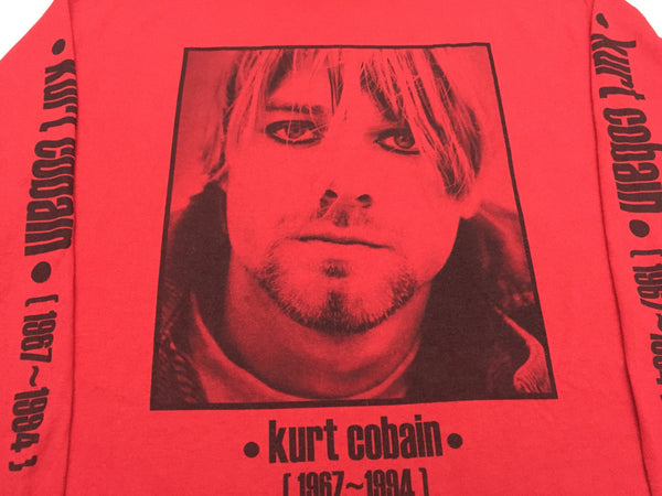 Kurt Cobain 90s 'Eyeliner/Tribute' XL *Extremely Rare Long Sleeve*