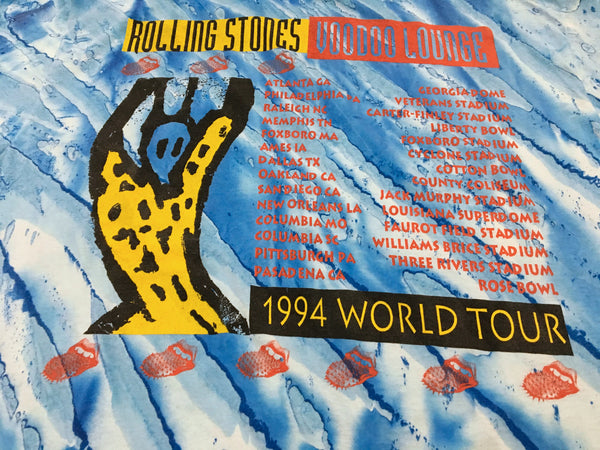 Rolling Stones 1994 'Voodoo Lounge Tour Tie Dye' XL *Rare*