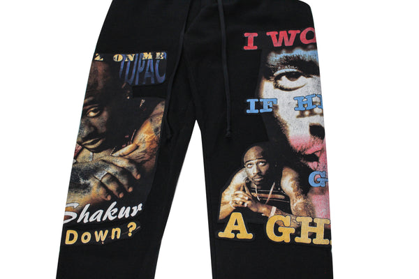 Reworked 2Pac 'I Wonder If Heaven...' Sweatpants Sz L/XL *1 of 1*