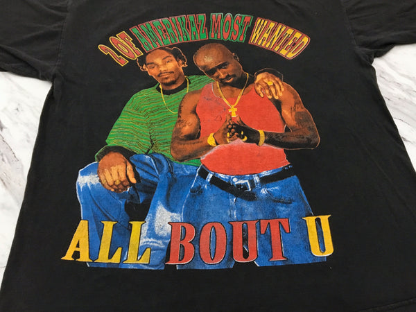2Pac X Snoop 90s '2 of Amerikaz Most Wanted / All About U' L/XL