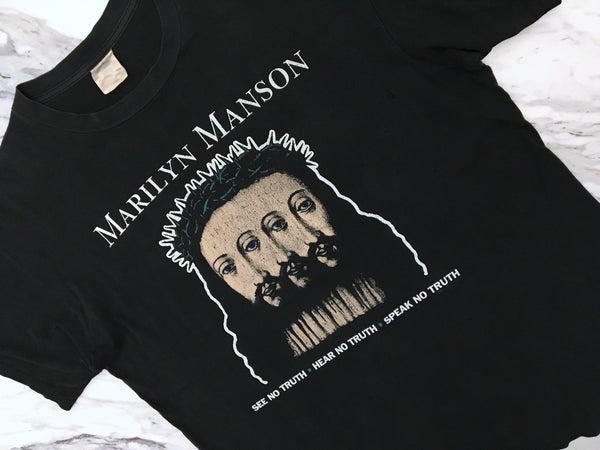 Marilyn Manson '96 'Believe' XL/XXL *Paper Thin**Distressed*