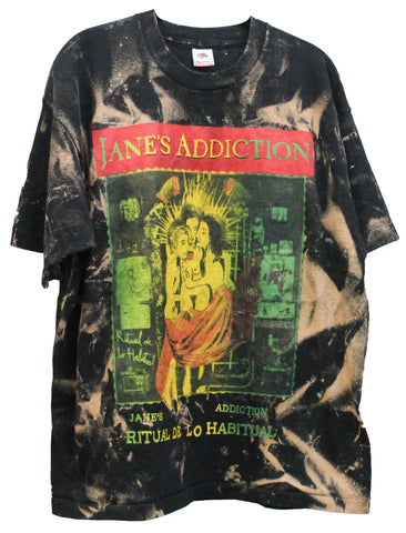 Janes Addiction '90 'Ritual De Lo Habitual Tour Bleach Dye' Boxy XL  *Rare*