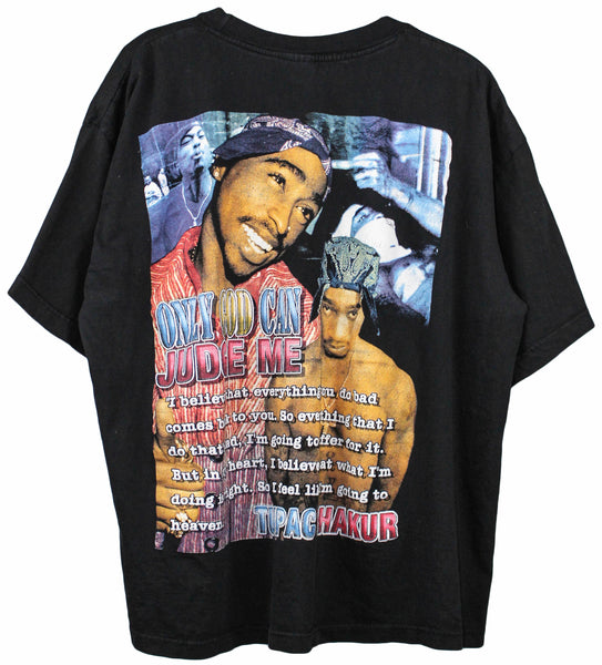 2Pac 90s 'Only God Can Judge Me' Bootleg Tribute Boxy XL