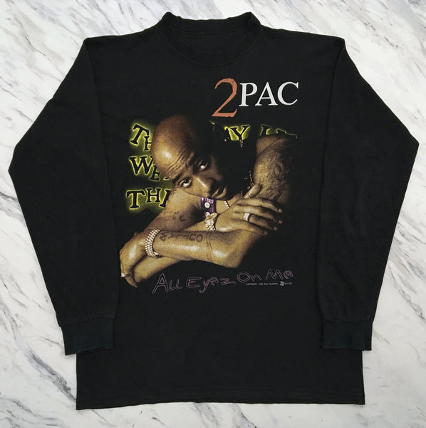 2Pac '98 'All Eyez On Me / Thug Life' L/XL L/S *RARE*