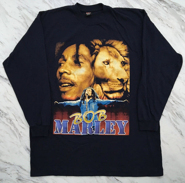 Bob Marley 90's 'Catch A Fire' 2XL/3XL L/S *Rare*