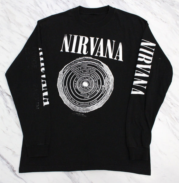 Nirvana 90s 'Dante's Inferno Bootleg' L/XL Long Sleeve