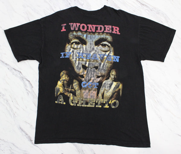 2Pac 90s 'R U Still Down? / I wonder If Heaven Got A Ghetto' Bootleg Tribute XL/XXL