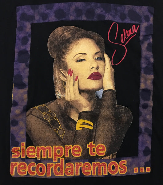 Selena 90s 'We Will Always Remember You Bootleg' XL *Rare Misprint*