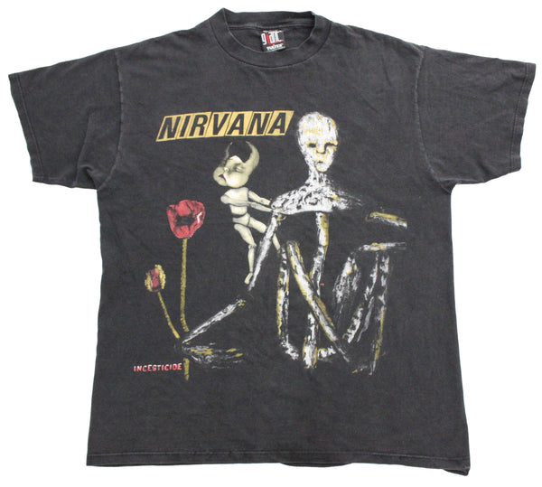 Nirvana 1994 'Incesticide' XL *Faded & Distressed*