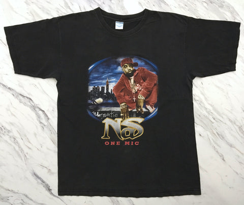 Nas 2001 'One Mic / Stillmatic Tour Bootleg' XL *Rare*
